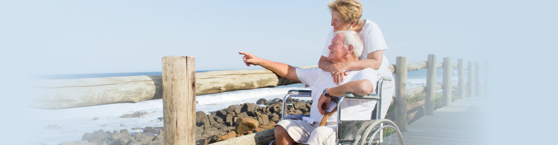 old couple in seaside