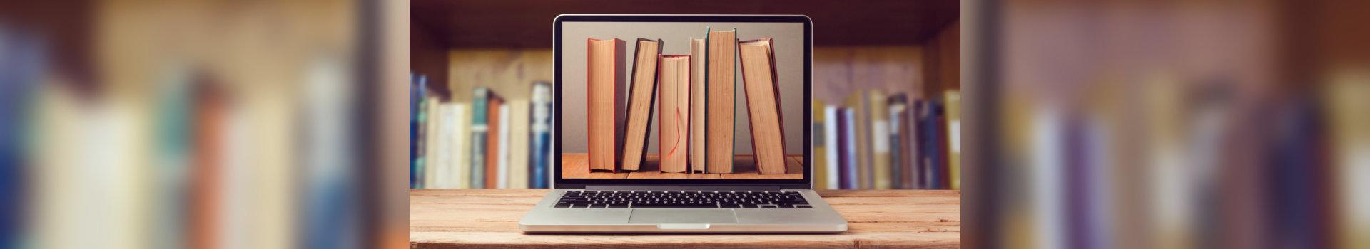 e-book, books in library